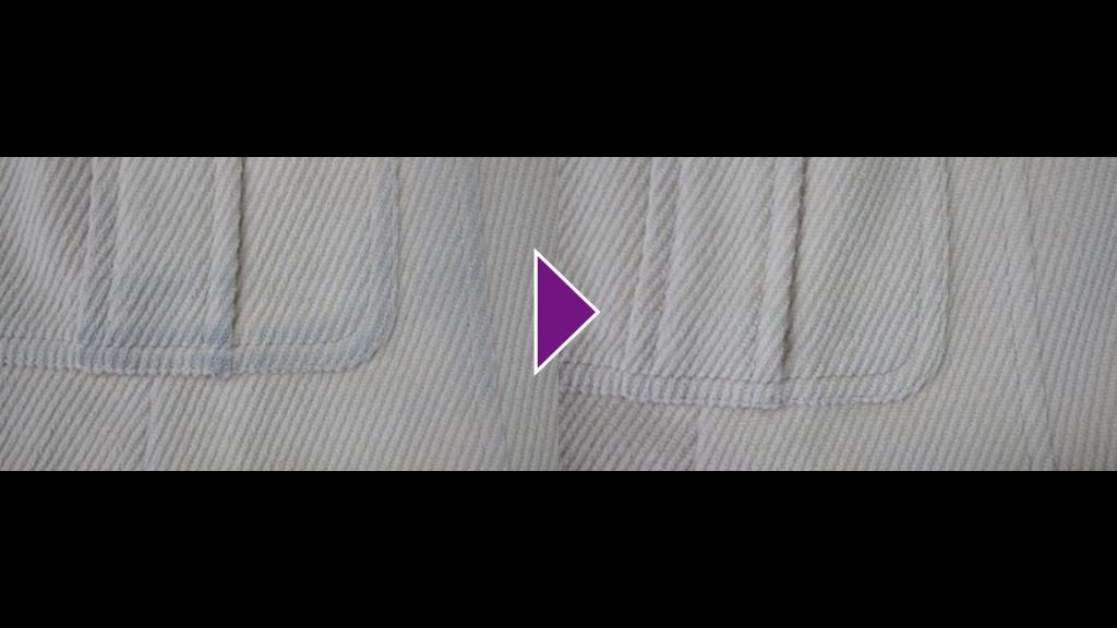 ベージュ系のハーフコートのリプロン事例紹介