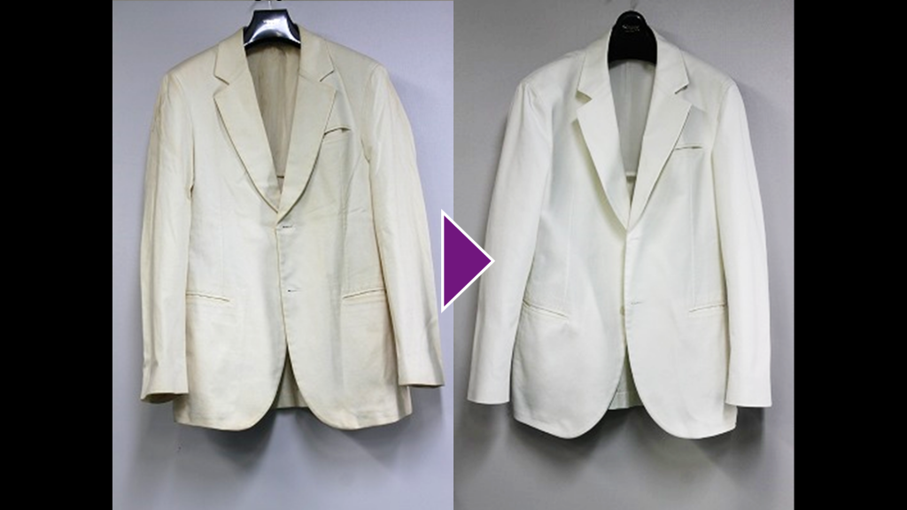 EMPORIO ARMANIの紳士ジャケットのリプロン事例紹介(全体像)