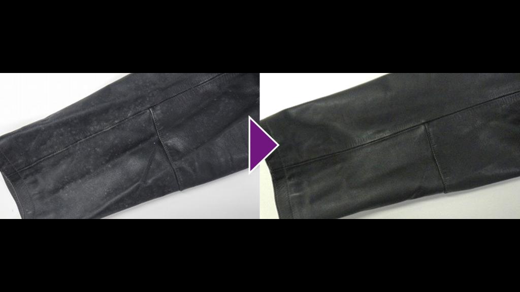 LOUIS VUITTONの皮革半コートのリプロン事例紹介