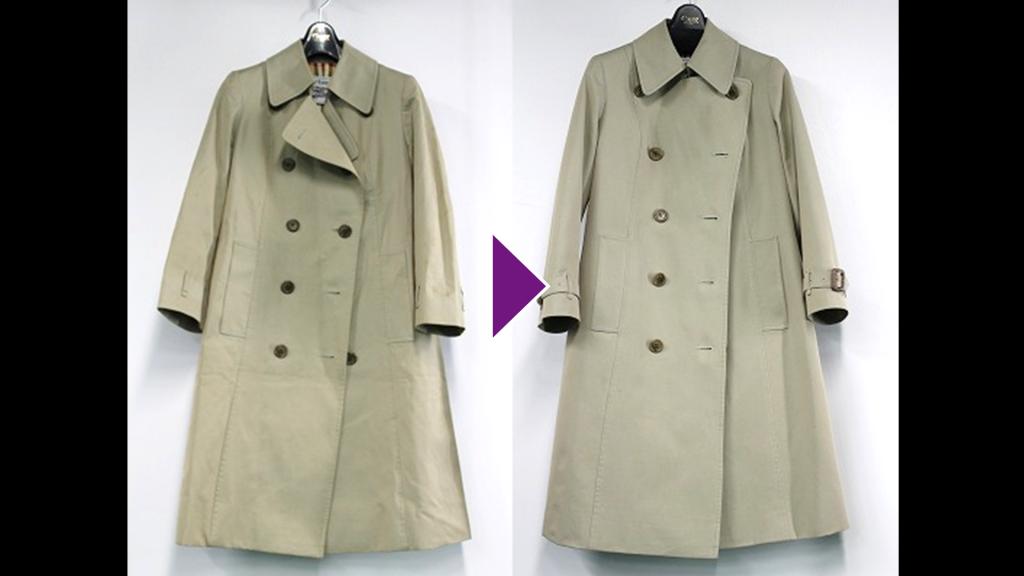 BURBERRYのコートのリプロン事例紹介(全体像)