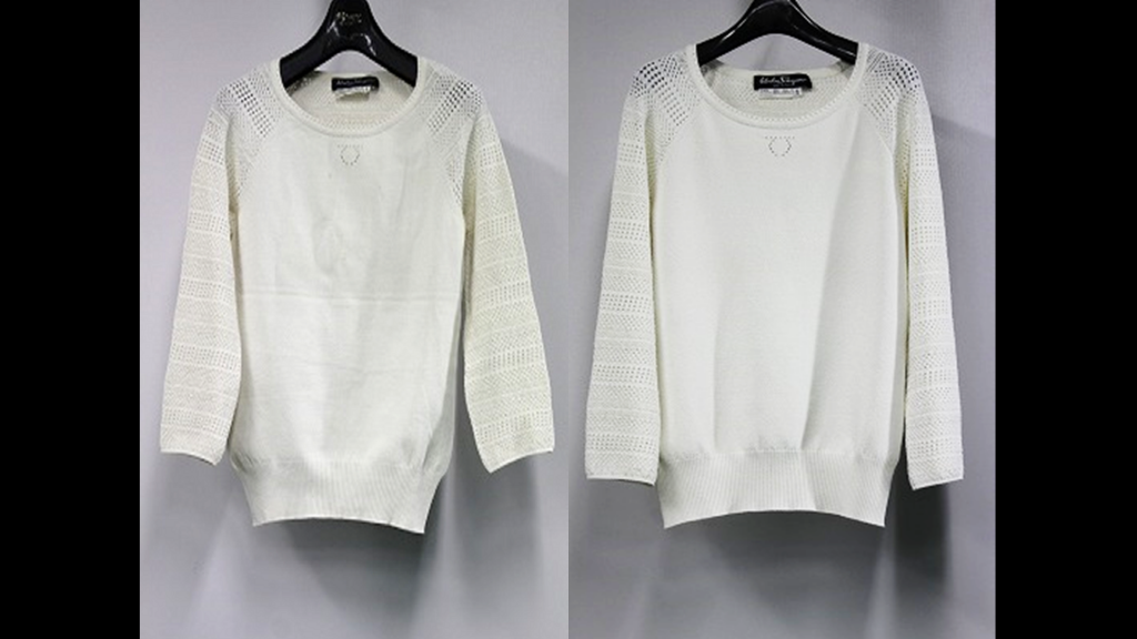 Salvatore Ferragamoの長袖セーターのリプロン事例紹介(全体像)