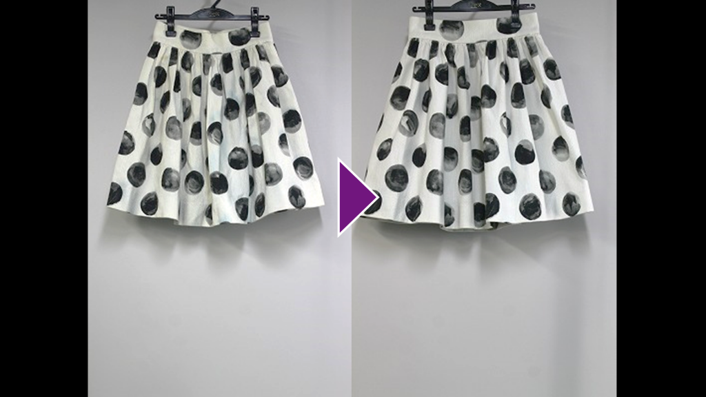 DOLCE&GABBANAのギャザースカートのリプロン事例紹介(全体像)