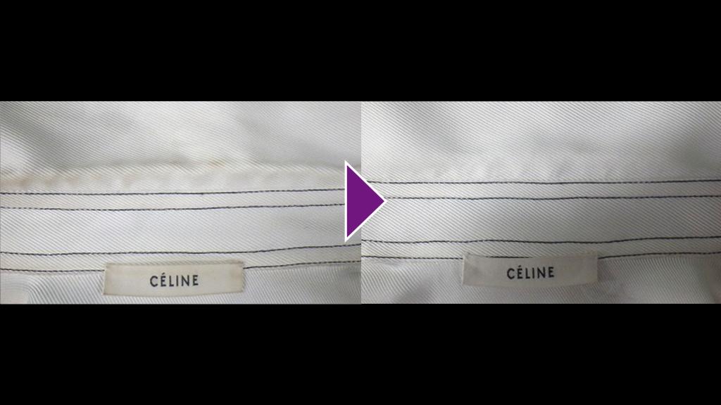 CELINEの長袖ブラウスのリプロン事例紹介