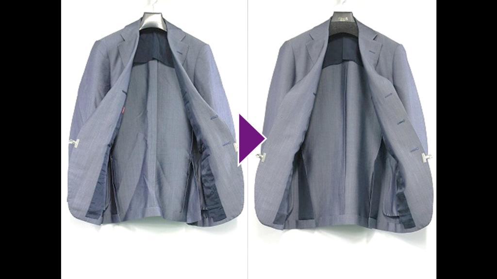 TOMORROWLANDの背広上着のリプロン事例紹介(全体像)