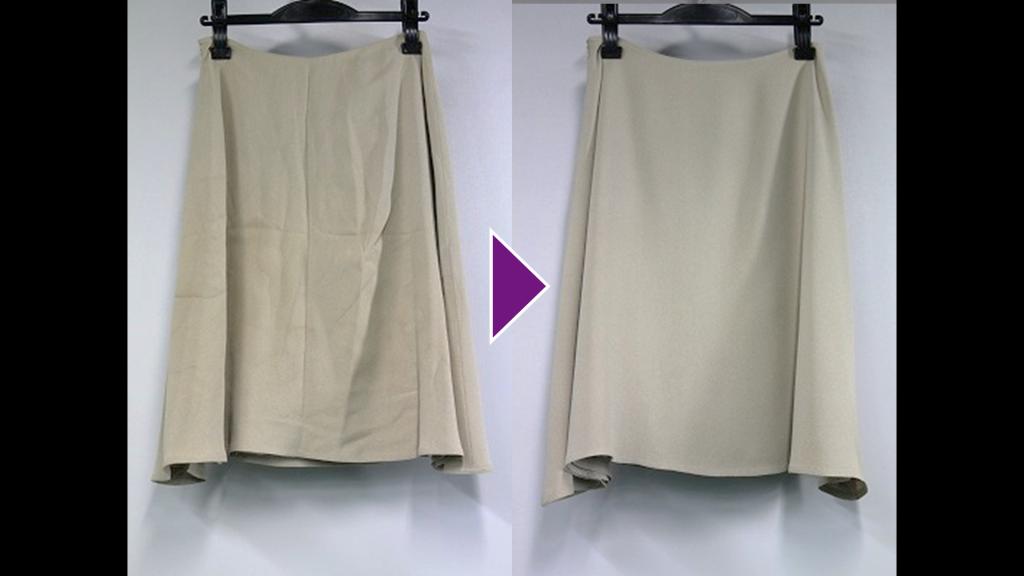 VALENTINOのフレアースカートのリプロン事例紹介(全体像)