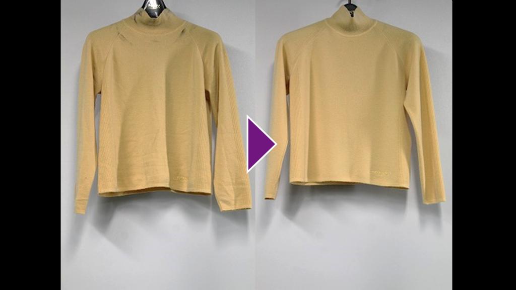 LEONARDのハイネックセーターのリプロン事例紹介(全体像)