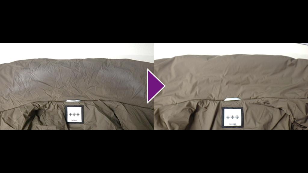 TATRASのダウンハーフコートのリプロン事例紹介
