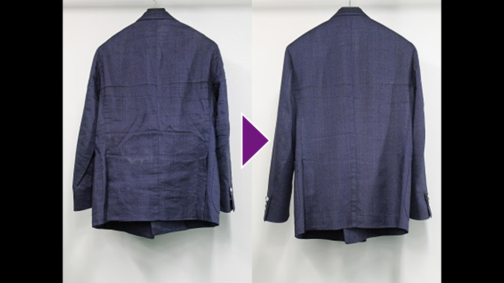 BOGLIOLIの紳士ジャケットのリプロン事例紹介(全体像)