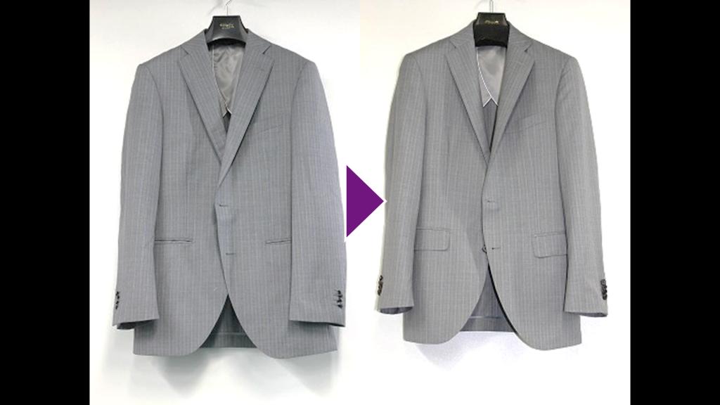 THESUITCOMPANYの紳士ジャケットのリプロン事例紹介(全体像)