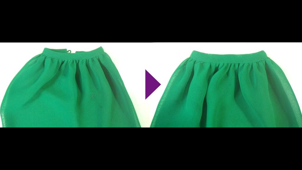 Christian Diorのギャザーワンピースのリプロン事例紹介
