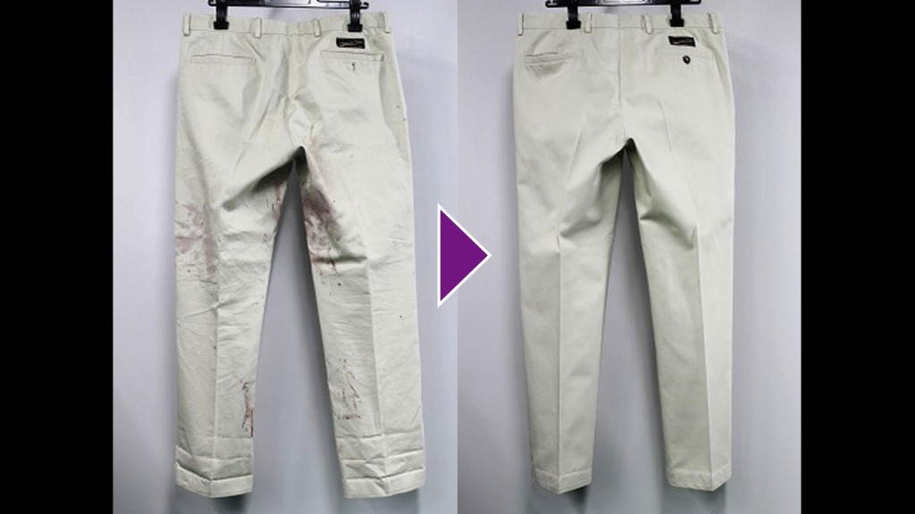 dunhillのズボンのリプロン事例紹介(全体像)