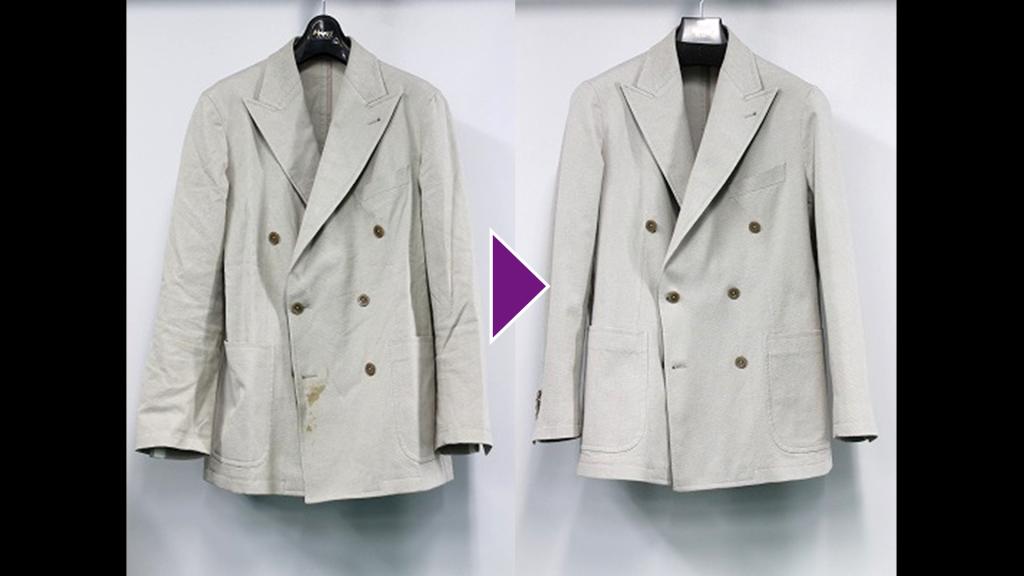 TAGLIATOREの紳士ジャケットのリプロン事例紹介(全体像)